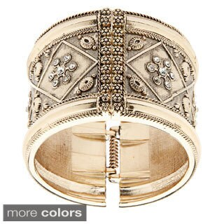 Alexa Starr Engraved Hinged Cuff Bracelet