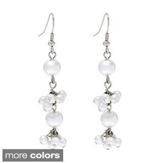 Alexa Starr Colored Linear Cluster Faux Pearl Earrings