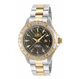 Invicta Men's 15851 Stainless Steel/ Gold Pro Diver Watch