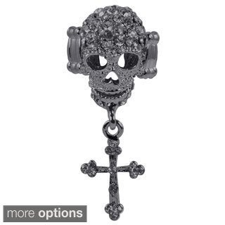 Kate Marie Fashion Jewelry 'Skull' Rhinestone Stretchable Ring