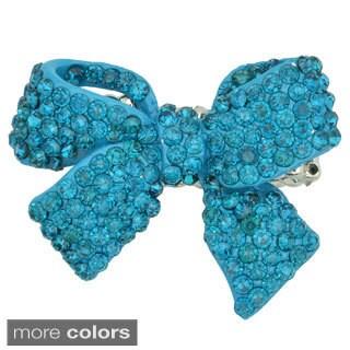 Kate Marie Fashion Jewelry 'Ribbon' Rhinestone Stretchable Ring