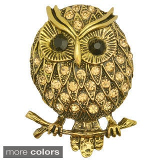 Kate Marie Fashion Jewelry 'Owl' Rhinestone Stretchable Ring
