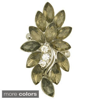 Kate Marie Fashion Jewelry 'Ola' Rhinestone Adjustable Ring