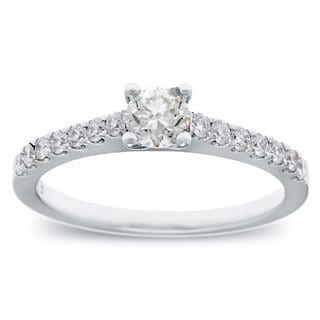 14k White Gold 3/5ct TDW Round Diamond Engagement Ring (G-H, SI2-I1)