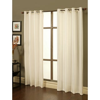 Sherry Kline Faux Silk Grommet Top 96 inch Blackout Curtain Panel Pair