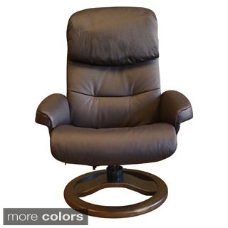 Fjord Scansit 868 Leather Recliner and Ottoman