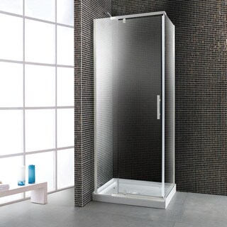 Ove Decors 40-inch Glass Shower Enclosure with Acrylic Base