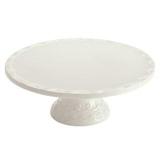 Cake Boss Icing Serveware 12-inch White Stoneware Cake Stand