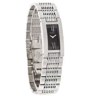 Seiko Men's SUJ343 Stainless Steel Black Dial Watch