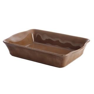 Rachael Ray Cucina Mushroom Brown Stoneware 9-inch x 13-inch Rectangular Baker