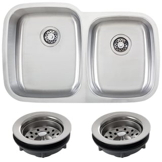 Phoenix 32-inch 18-gauge Undermount Double Bowl Kitchen Sink