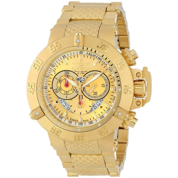 Invicta Men'S 5403 'Subaqua' Goldplated Stainless Steel Chronograph Watch 12638670