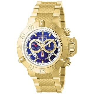 Invicta Men's 5404 'Subaqua' 18k Goldplated Stainless Steel Chronograph Watch