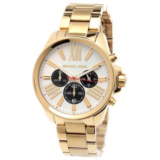 Michael Kors Women's MK5838 'Wren' Goldtone Chronograph Watch
