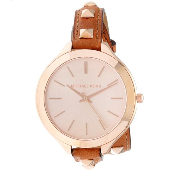 Michael Kors Women's MK2299 'Double Wrap' Leather Watch