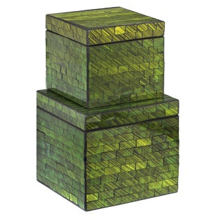 Mosaic Emerald Green Box (Set of 2)