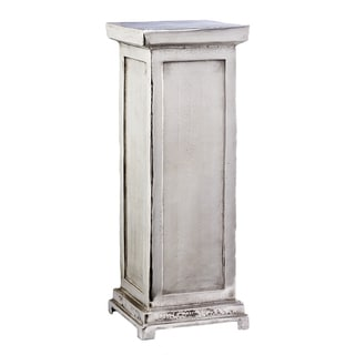 Medium Silver Aluminum Pillar Pedestal