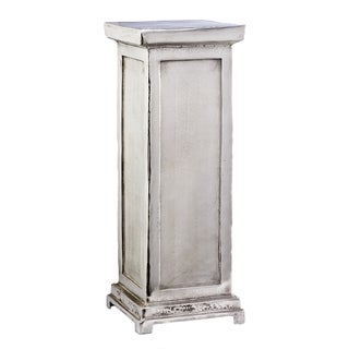 Tall Silver Pillar Pedestal