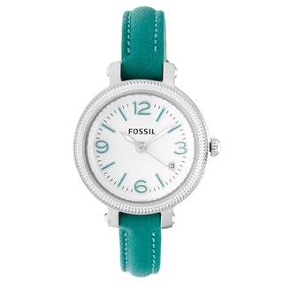 Fossil Women's ES3333 'Heather' Teal Strap Watch
