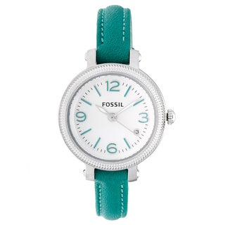 Fossil Women's 'Heather' Teal Strap Watch