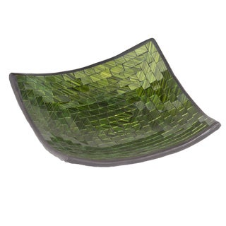 Square Emerald Green Mosaic Bowl