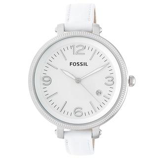 Fossil Women's ES3276 'Heather' White Strap Watch