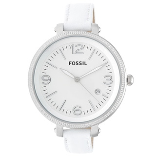 Fossil Women's 'Heather' White Strap Watch