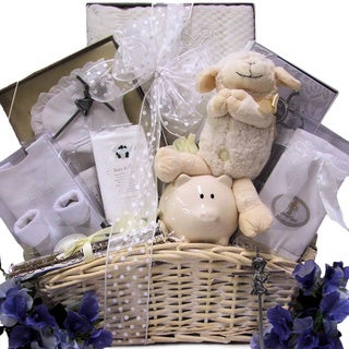 'Beautiful Blessings on Your Christening' Baby Christening Baptism Gift Basket for Boys