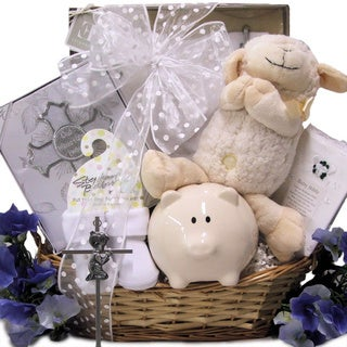 Bless This Baby Boy Christening Baptism Gift Basket