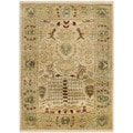 Safavieh Hand-knotted Peshawar Vegetable Dye Ivory/ Gold Wool Rug (4' x 6')