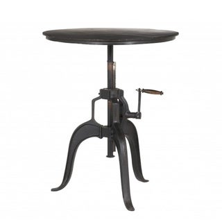 Metal Bistro Pub Table With Cranking Adjustable Top
