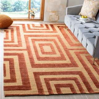 Safavieh Hand-knotted Santa Fe Light Gold Wool Rug (4' x 6')