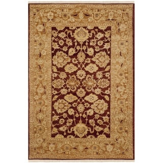 Safavieh Hand-knotted Peshawar Vegetable Dye Rust/ Lemon Wool Rug (4' x 6')
