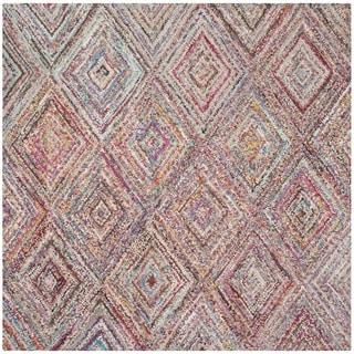 Safavieh Handmade Nantucket Multicolored Cotton Rug (6' Square)