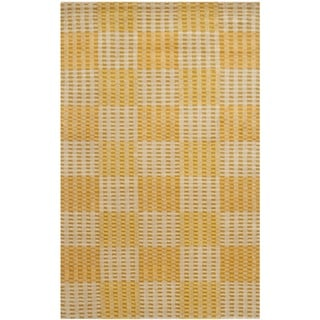 Safavieh Hand-knotted Nepalese Creme/ Yellow Wool/ Silk Rug (4' x 6')