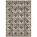 Safavieh Indoor/ Outdoor Moroccan Courtyard Anthracite/ Beige Rug (6'7 x 9'6)