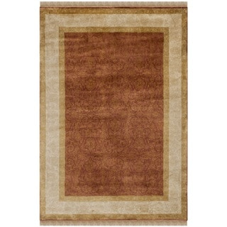 Safavieh Hand-knotted Ganges River Rust/ Ivory Wool Rug (4' x 6')