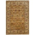 Safavieh Hand-knotted Ganges River Gold/ Ivory Wool Rug (4' x 6')