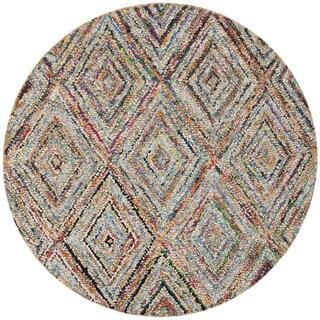 Safavieh Handmade Nantucket Multicolored Cotton Rug (6' Round)