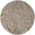 Safavieh Handmade Nantucket Multicolored Cotton Rug (4' Round)