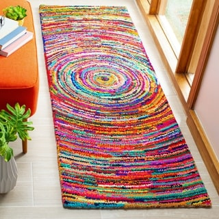Safavieh Handmade Nantucket Multicolored Cotton Rug (2'3 x 7')