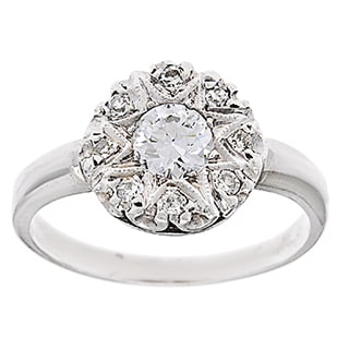 Platinum 3/4ct TDW Diamond Estate Antique Engagement Ring (G-H, VS1-VS2)