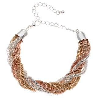 Alexa Starr Six-row Tri-Tone Bracelet