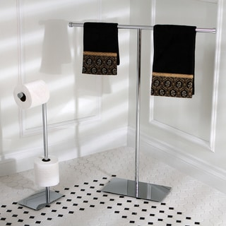 Modern Freestanding Polished Chrome Bathroom Accessories