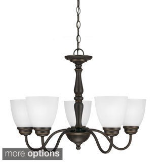 Northbrook 5-light Satin Etched Glass Chandelier