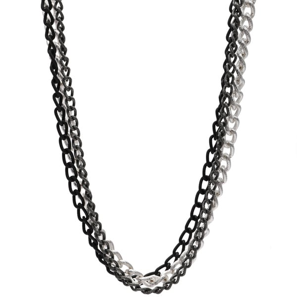 Alexa Starr 3-row 36-inch Tri-Tone Chain Necklace