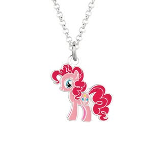 Fine Silvertone Pinkie Pie My Little Pony Pendant Necklace