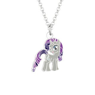 Fine Silvertone Rarity My Little Pony Pendant Necklace