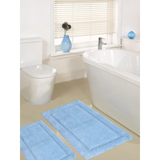 Super Plush Race Track Cotton 2-piece Bath Rug Set