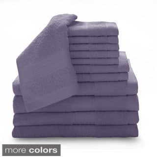 Luxury 100-percent Cotton 12-piece Towel Set with Bath Sheets